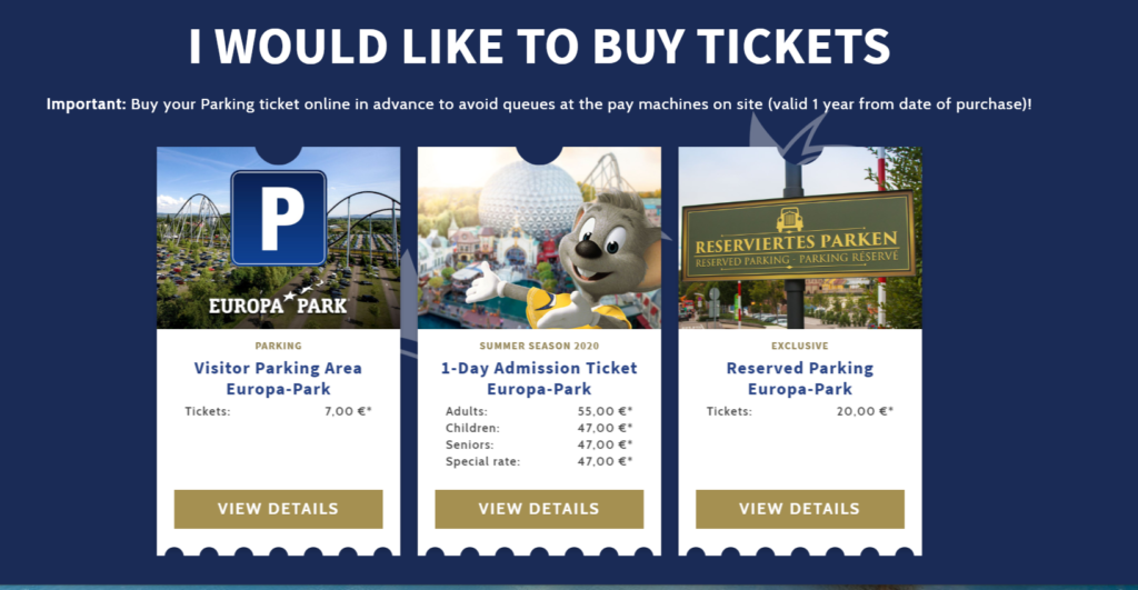 Europa Park Covid Rules Buy Tickets Online Only