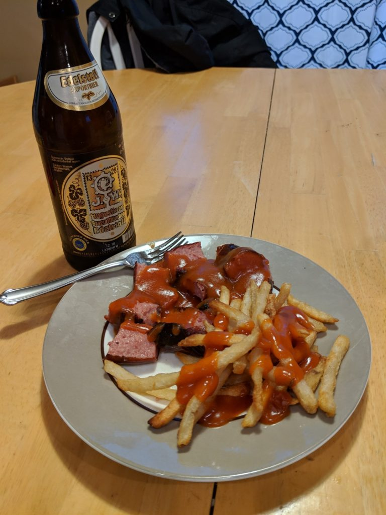 German Currywurst is a must try German food