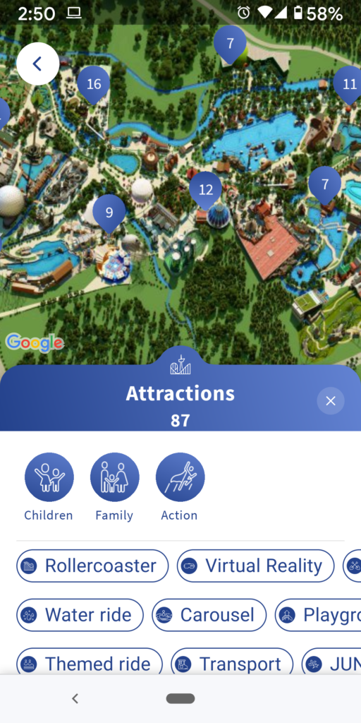 Europa Park App for virtual lines
