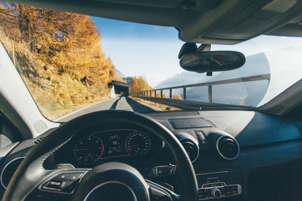 driving to Neuschwanstein