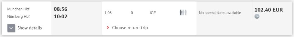 munich to nuremberg train bayern ticket vs bayern ticket ice train