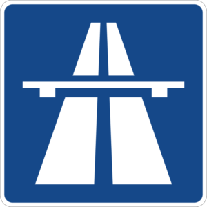 german autobahn sign