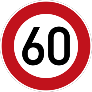 German speed limit sign