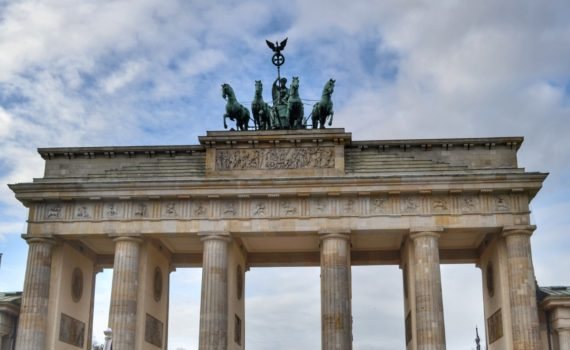 The Brandenburg gate is one of the most popular tourist places in berlin