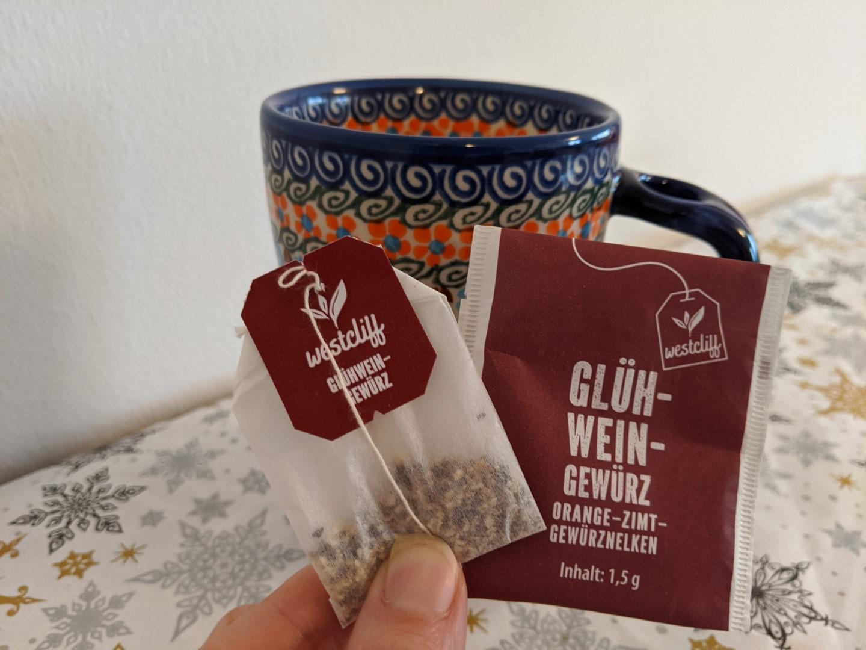 gluhwein tea bag for mulled wine single serve