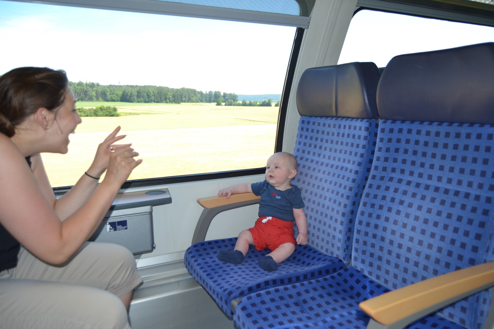 baby train travel in germany
