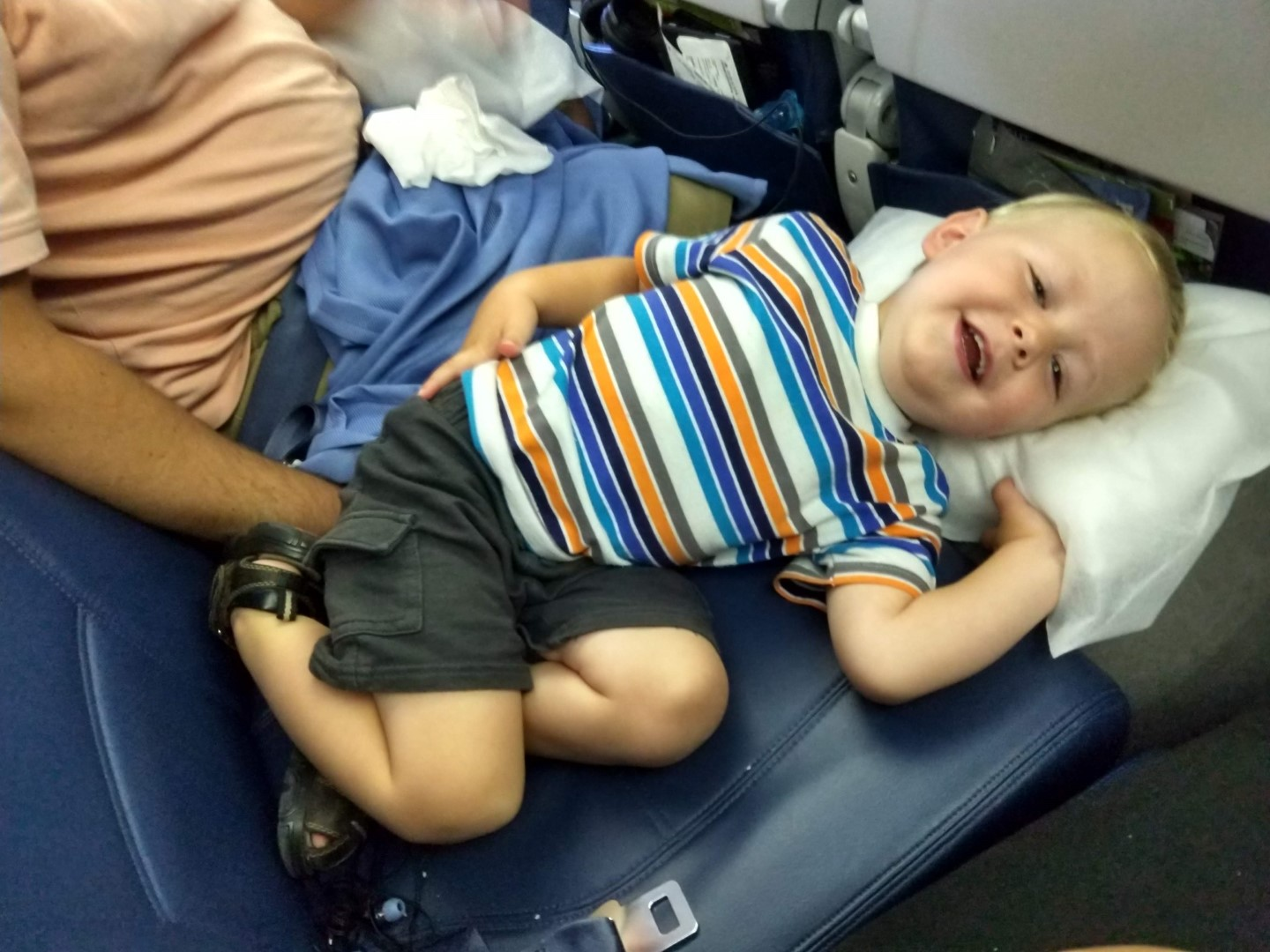 how to survive an international flight with a toddler