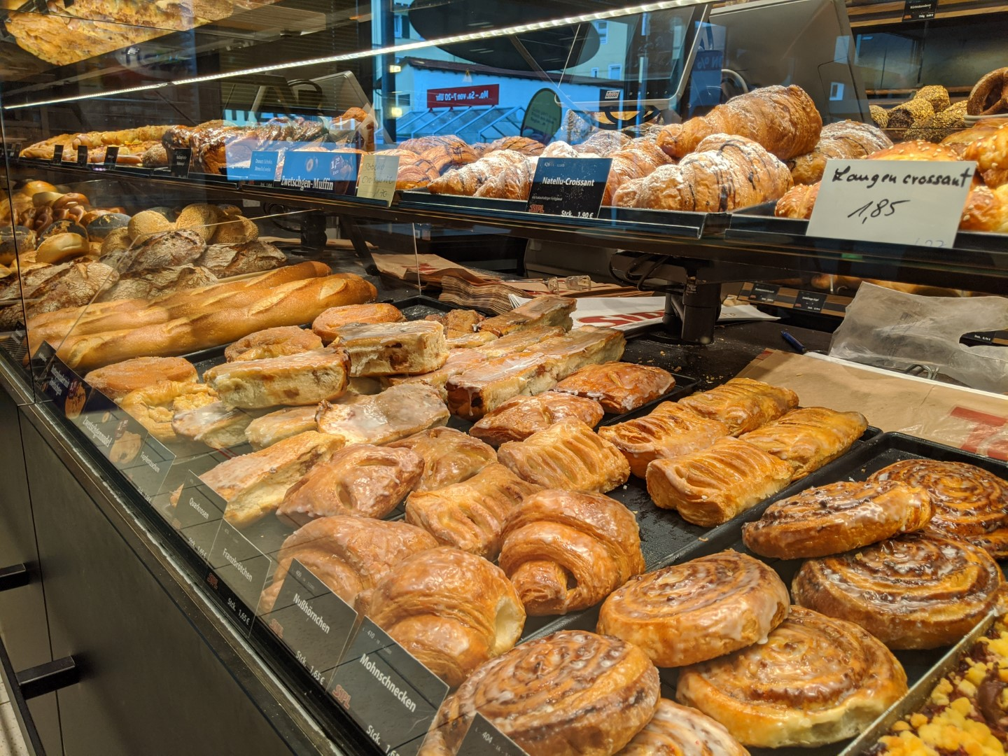 Fresh German Pastries from the Backery