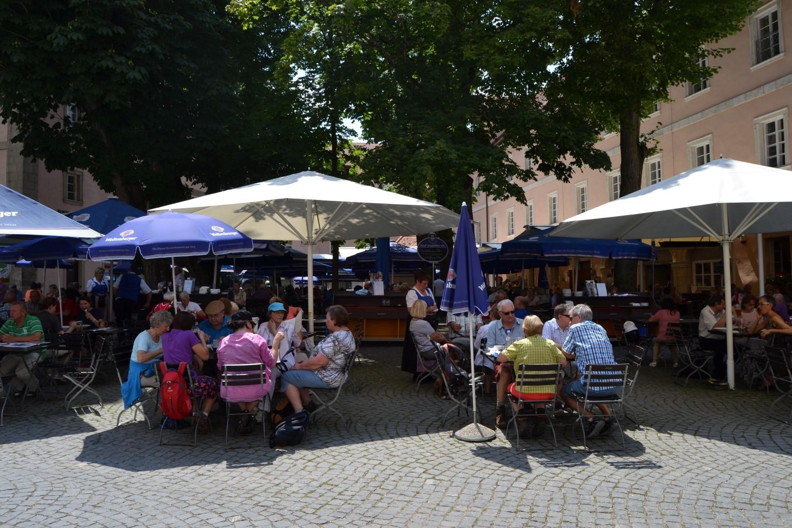 Weltenburg Biergarten