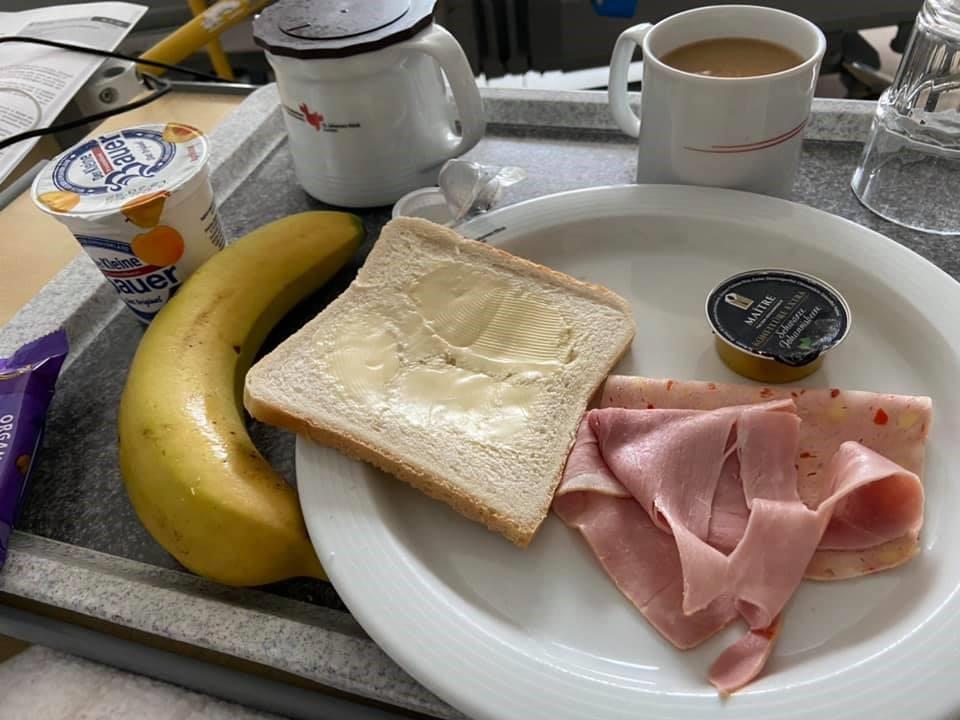 German hospital breakfast