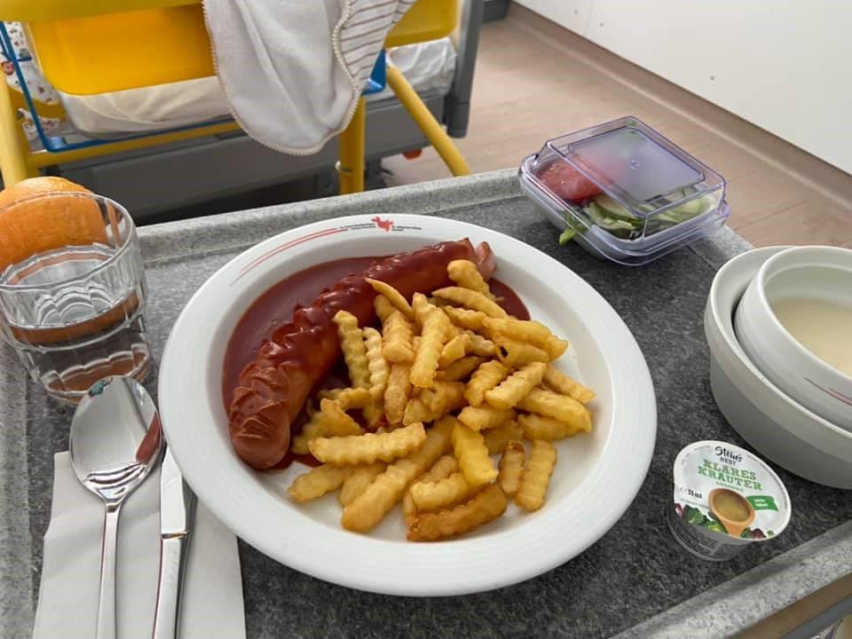 German hospital lunch